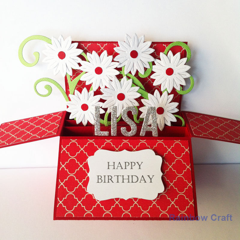 Handmade birthday card / Handmade Anniversary card / Name personalized
