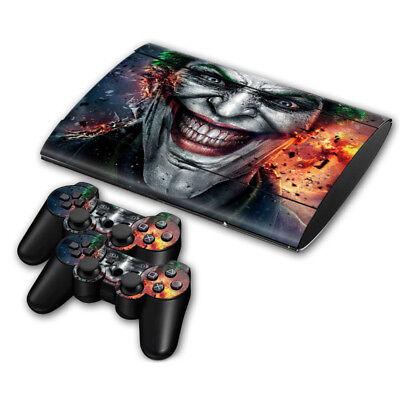 PS3 SUPER SLIM Console Skin Sticker Protector New The Joker + 2...