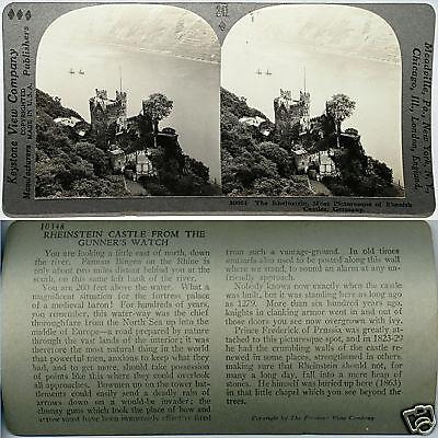 Rheinstein Castle (Keystone Stereoview RHEINSTEIN Castle on Rhine, GERMANY From 600/1200 Card Set )