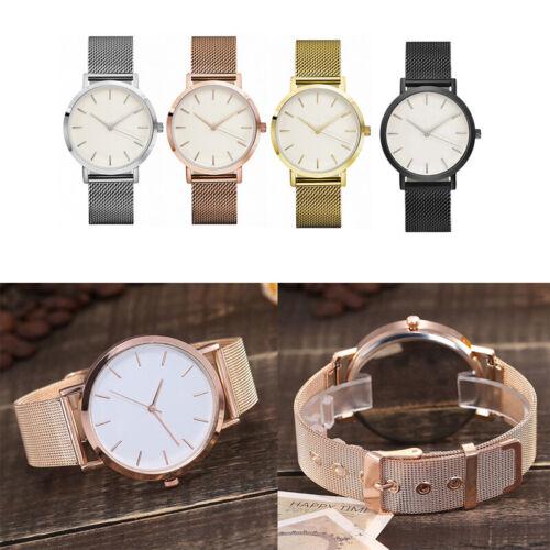 Mode Frauen Mädchen Marmor Oberfläche Edelstahl Mesh Armbanduhr Uhren