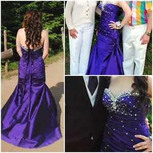 Royal purple prom dress