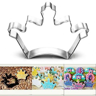 Diy Stainless Steel Crown Cookie Cutter Biscuit Cake Decorating Sugarcraft (Crown Cookie Cutter)