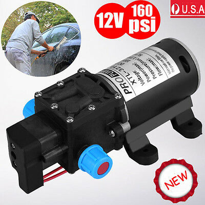 12v 100w 160psi High Pressure Diaphragm Self Priming Water Pump 8lpm For Wash Us
