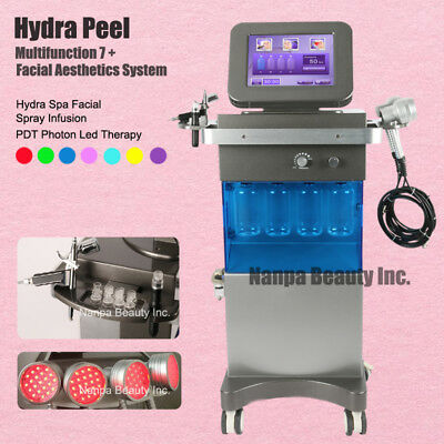 7 in 1 Hydra Dermabrasion PDT LED Phtonrejuvenation Hydra Spa Facial Machine
