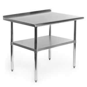 New SS Commercial Kitchen Prep&Work Table,w/ Backsplash