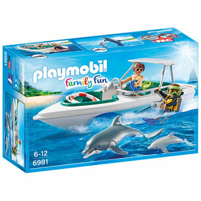 PLAYMOBIL Diving Trip With Speedboat - Family Fun 6981