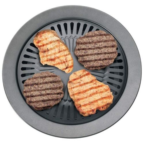 STOVE TOP BBQ GRILL Smokeless Indoor Kitchen Nonstick Pan Gr