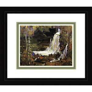 Tom Thomson Woodland Waterfall Painting
