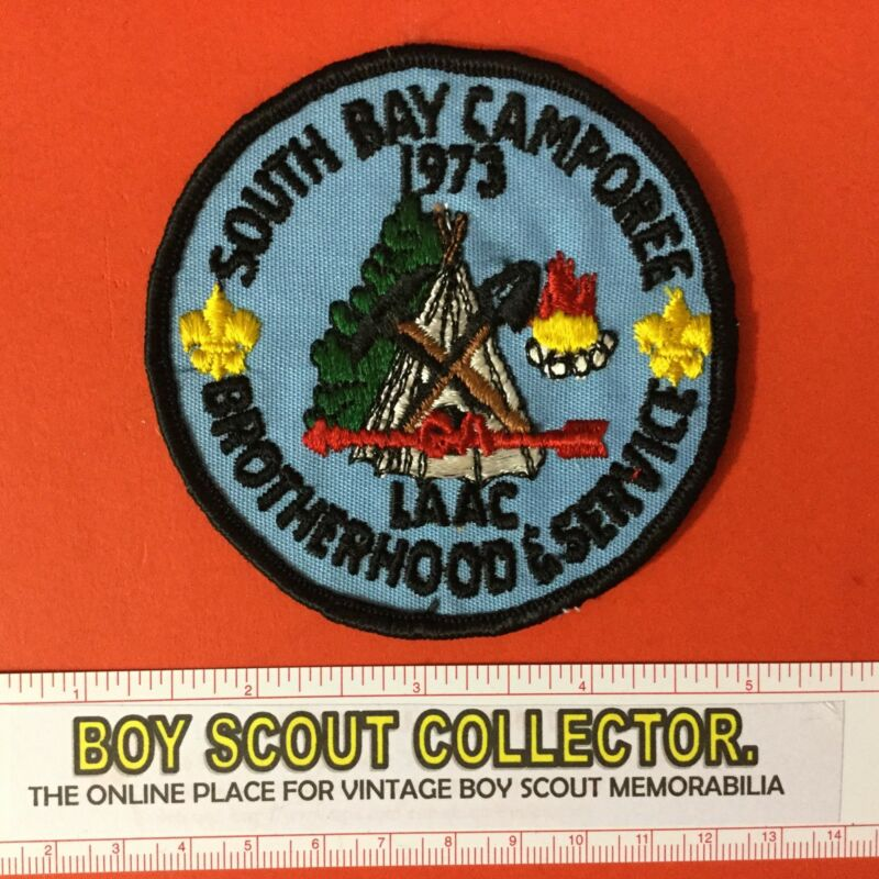 Boy Scout 1973 South Bay Camporee LAAC 252 Brotherhood & Service Patch FREE SHIP