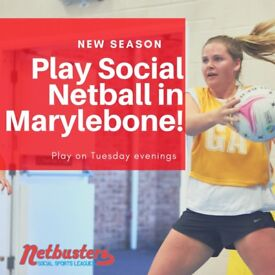 NEW SEASON - Play Social Netball in Marylebone!