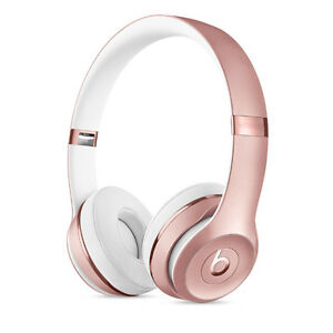 Beats by Dre: Beats Solo 3, Rose Gold- excellent condition
