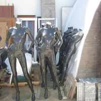 Mannequins - Female full body with glass and chrome stand