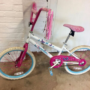 "Girl's White and Pink Huffy 20"" Bicycle"