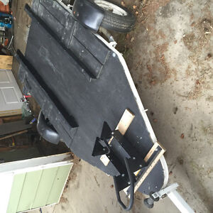 Utility boat or motorcyle trailer