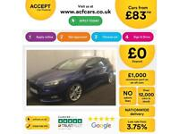FORD FOCUS BLUE 2.0 T E/B 250 ST-2 HATCHBACK FROM £83 PER WEEK!