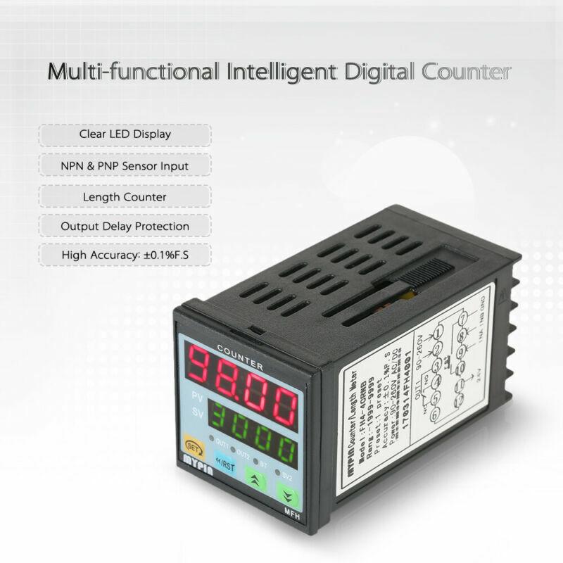 90-260V Preset 4 Digital Counter Length Meter Relay Automatic Control Alarm