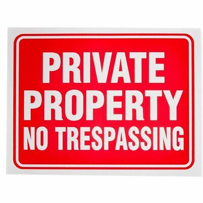 10pcs Private Property No Trespassing Sign 12 X 9 For Indoor Outdoor Gates