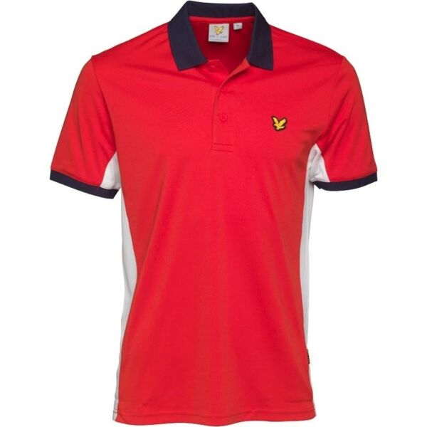 Lyle And Scott Fitness Mens Pascoe Polo With Mesh Panels Pavilion - Red, White & Navy (L) (BNWT)