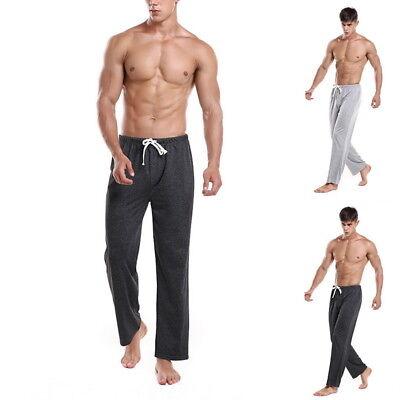 Mens Casual Yoga Pants Pajamas Pants Nightwear Straight-Leg Trousers Pajamas UK