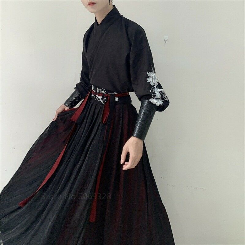 Japanese Clothes Robe Men Kimono Samurai Champloo  Ancient Hanfu Kongfu Costume