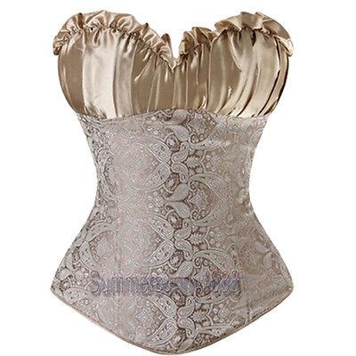 Plus Size Lingere L Beige Renaissance Corset top SEXY Lingerie Bustier Costume