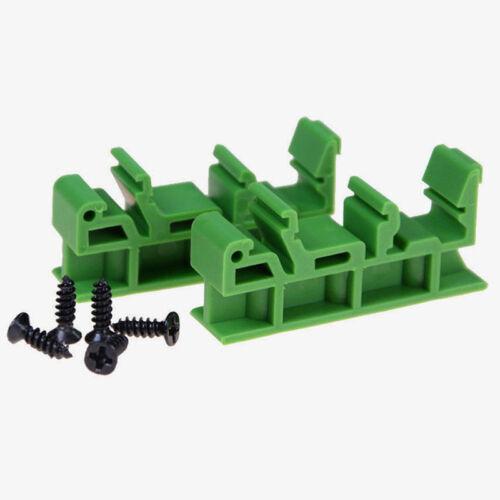 HOT Plastic PCB Din C45 Rail Adapter Circuit Board Mounting Bracket Holder 35mm