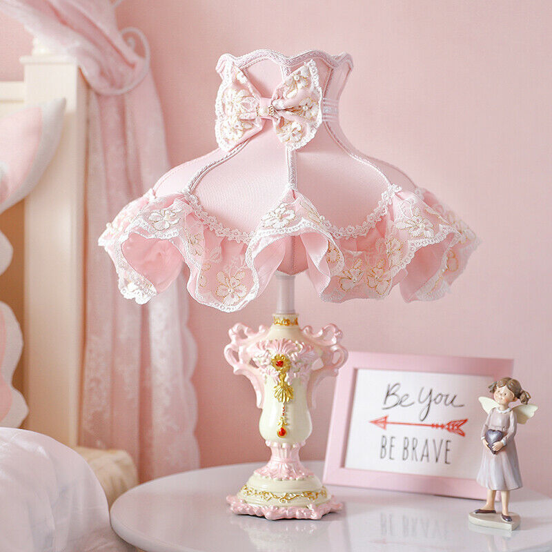 Pink Princess Led Table Lamps For Girl Bedroom Bedside Lamp Desk Light Fixtures Ebay