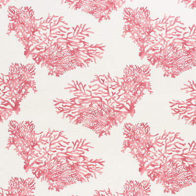 SCHUMACHER NAUTICAL BARRIER CORAL FAN REEFS LINEN FABRIC 10 YARDS PINK