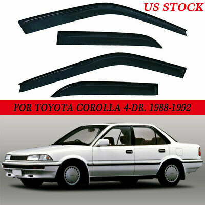 Window Visor Rain Wind Deflectors For Toyota Corolla 1988 1989 1990 1991 1992 1992 Toyota Corolla Window