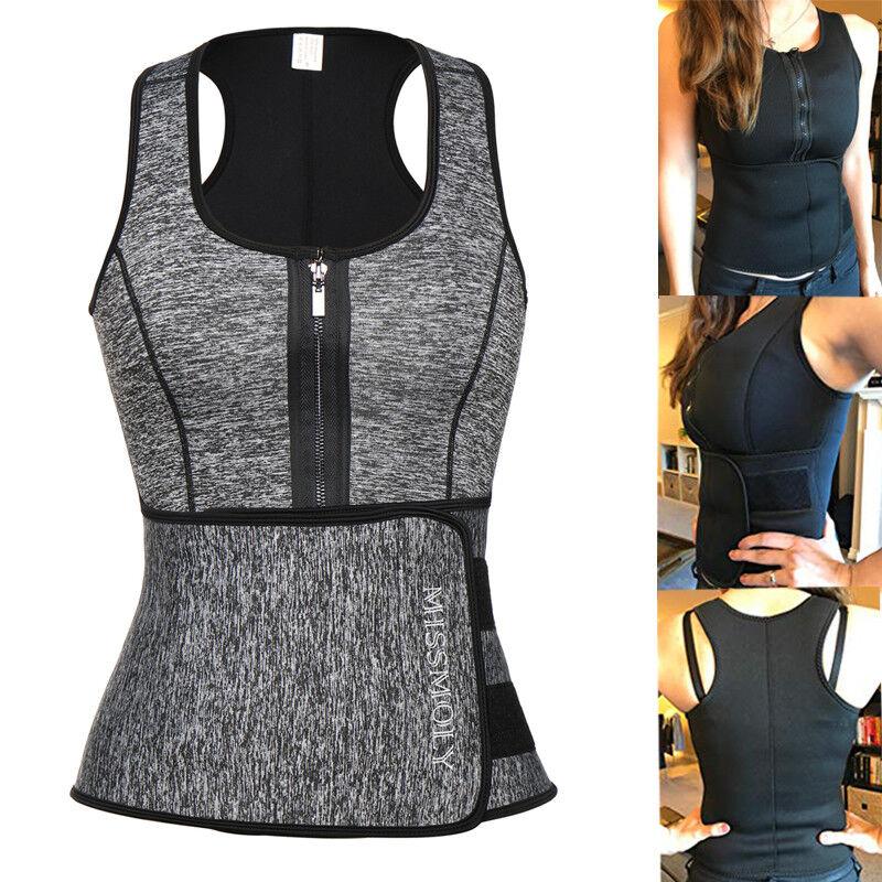 Women Ladies Sauna Waist Trainer Vest for Weight Loss Slimmi
