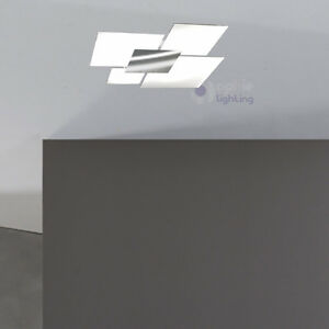 Lampadario moderno acciaio cromato cristallo plafoniera - Lampada soffitto bagno ...