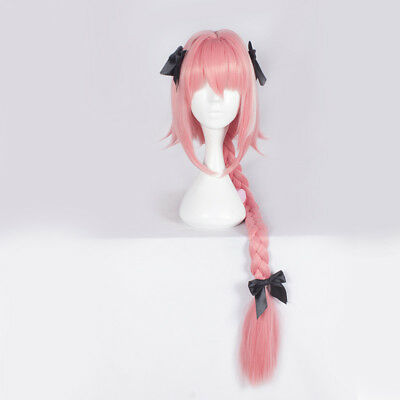 Fate/Apocrypha Rider of Black Astolfo Cosplay Wig for Sale - Pink Wigs For Sale