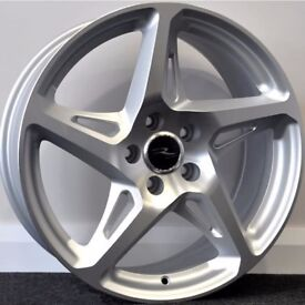 """19"""" River R4 - Silver Alloy Wheels & Tyres. Suitable for most VW, Audi, Seat, etc."""