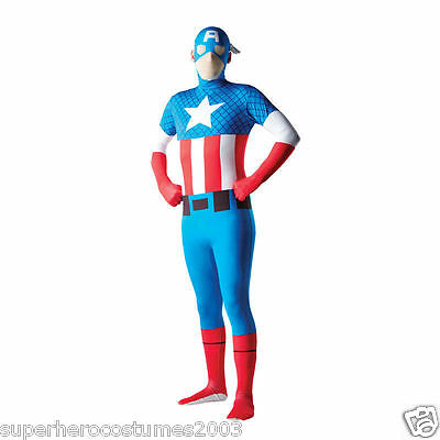 The Avengers Captain America 2nd Skin Costume Marvel Comics Size Large Rubies - Avengers 2 Costumes