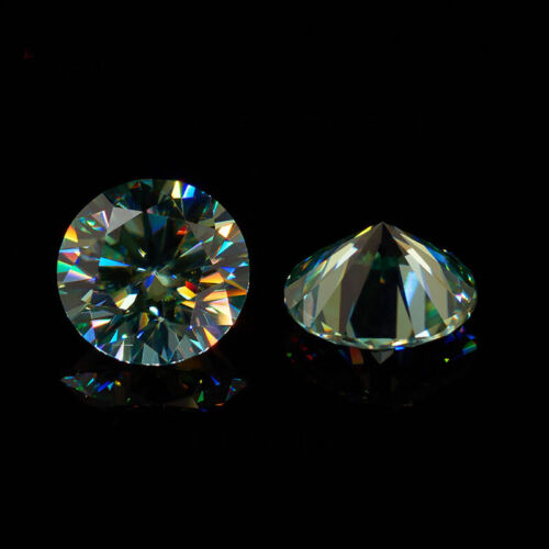 Green Color Round Cut Moissanite Stone Loose Diamond Gemstone With Certificate