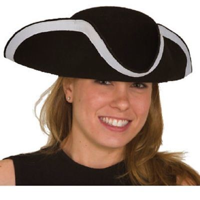 Jacobson Tri Corner Colonial Pirate Hat Larger Child Teen Adult (Tri Cornered Hat)