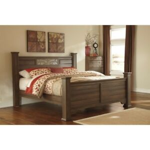 Almost New Ashley bed lrg dbl