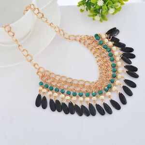 Hot Fashion Crystal Choker Necklace Chunky Statement Bib Pendant