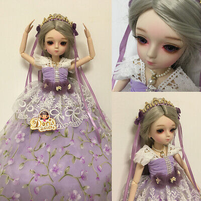 45cm 1/4 BJD Ball Jointed Doll Girl w/Full Set Outfit Cute Xmas B-Day Gift Toy ()