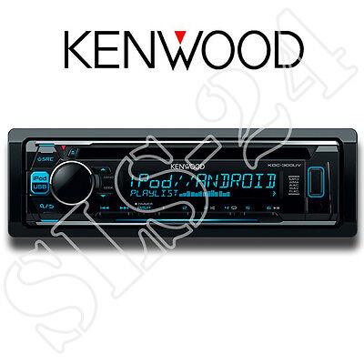 Kenwood KDC-300UV Autoradio USB/CD-Receiver mit iPod-Steuerung und variabler Tas ()