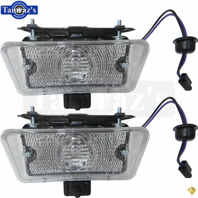 1970 Chevelle Front Parking Turn Signal Light Lamp Lens Housing Assembly PAIR - Parking Light Lamp Lens