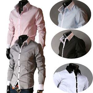 Luxury-Design-Mens-Casual-Shirt-Wedding-Formal-Business-Dress-Shirts-Tops-S-XL