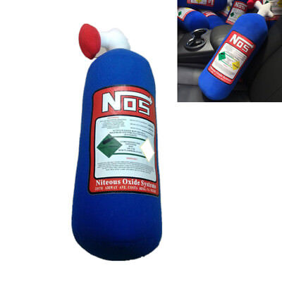 28*10cm NOS Nitrous Oxide Bottle Tank Pillow Plush Turbo JDM Toy For Car Travel  for sale  Shipping to Canada
