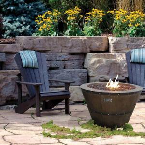 Retail $700+ Sunbeam Premium Collection Wine Barrel Fire Pit