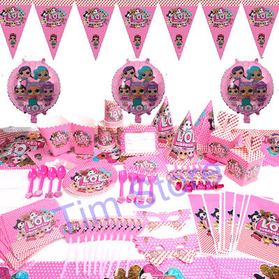 100pcs LOL Surprise Girls Birthday Party Tableware Decoration Supplies Kids Set](100 Birthday)