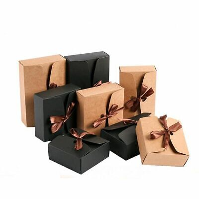 Cardboard Boxes Gift Packaging Paper Box With Ribbons 20pcslot Item Protections