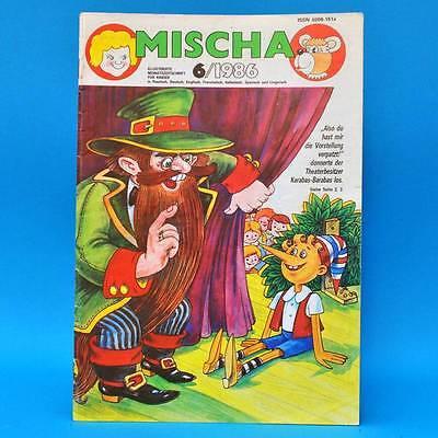 DDR Mischa 6/1986 Kinderzeitschrift | Hase und Wolf Kinder Kindergarten Schule A