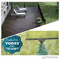 Patio staining / window cleaning (514)516-1488