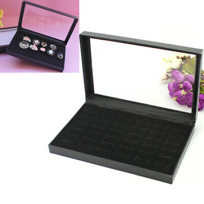 36slots Jewelry Rings Storage Showcase Display Case Box Holder Organizer New