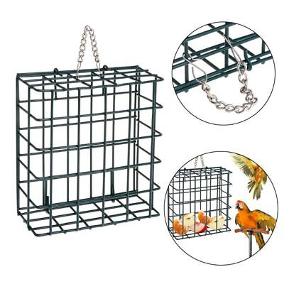 Tree Hanging Bird Feeder Cube Cage Food Container Wild Birds Parrot Feeding
